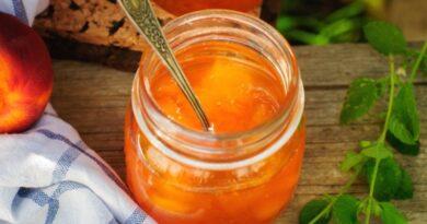 Джем из персиков на зиму — 6 простых рецептов